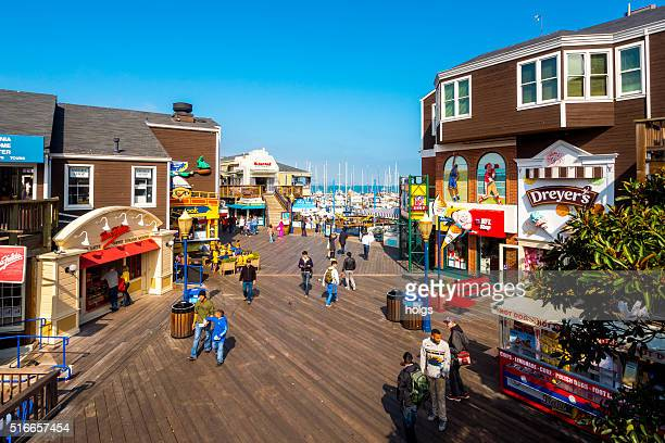 fisherman's wharf in san francisco, california - fishermans wharf stock pictures, royalty-free photos & images