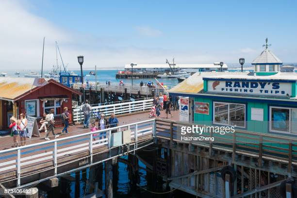 fisherman's wharf, monterey, ca - monterey peninsula stock pictures, royalty-free photos & images