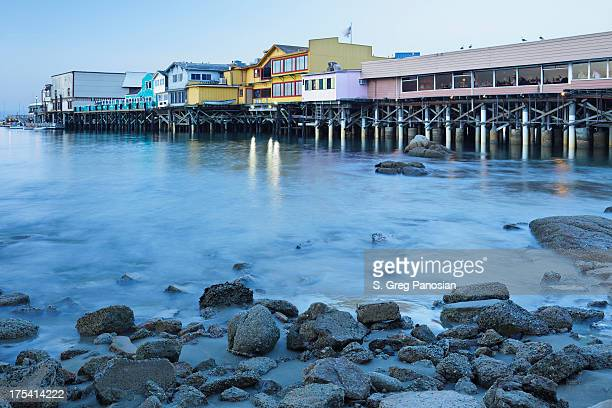 fisherman's wharf monterey - monterrey stock pictures, royalty-free photos & images