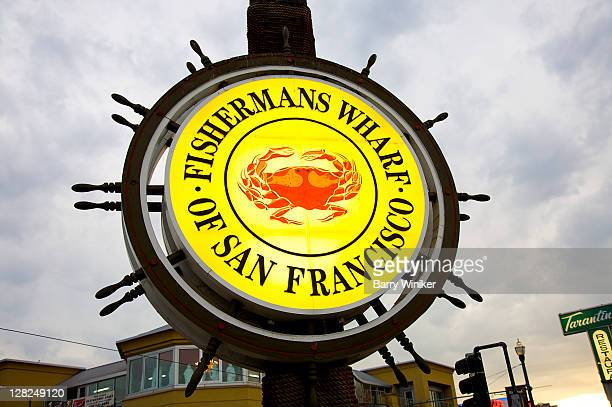 fishermans wharf sign, san francisco, california - fishermans wharf stock pictures, royalty-free photos & images