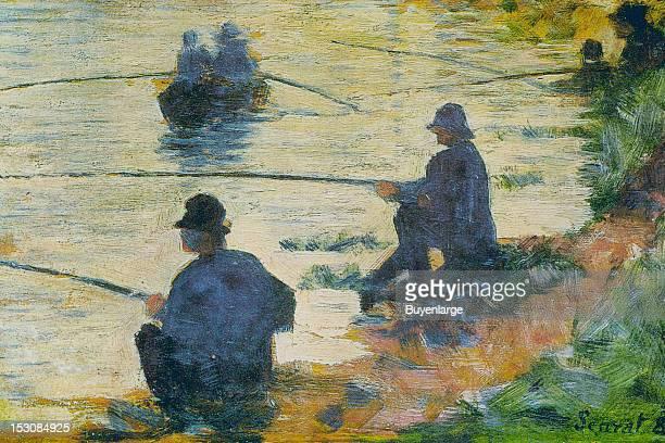 Fishermen, 1883. By George Seurat.