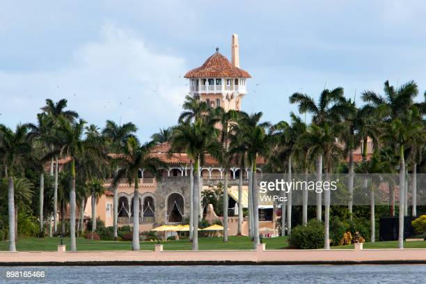 Fishermen along the intracoastal waterway behind President Donald Trumps Florida White House MaraLago in the exclusive town of Palm Beach The...