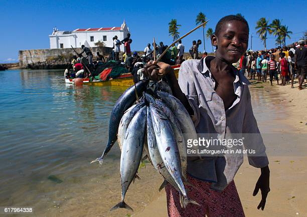 Fishermen coming back to the beach, sland of mozambique, Mozambique on July 16, 2013 in Island Of Mozambique, Mozambique.