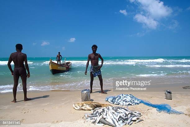 Fishermen on Beach near Dhanushkodi