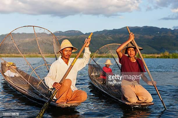 Fischer auf See Inle Lake, Myanmar