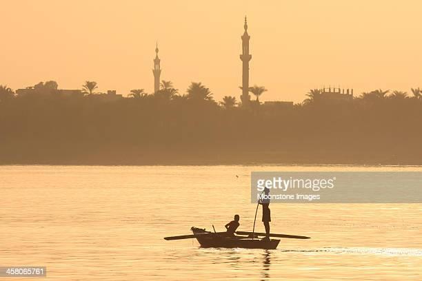 Fishermen on Nile River in Luxor, Egypt
