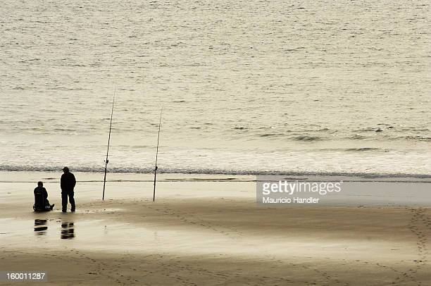 Fishermen on the beach.