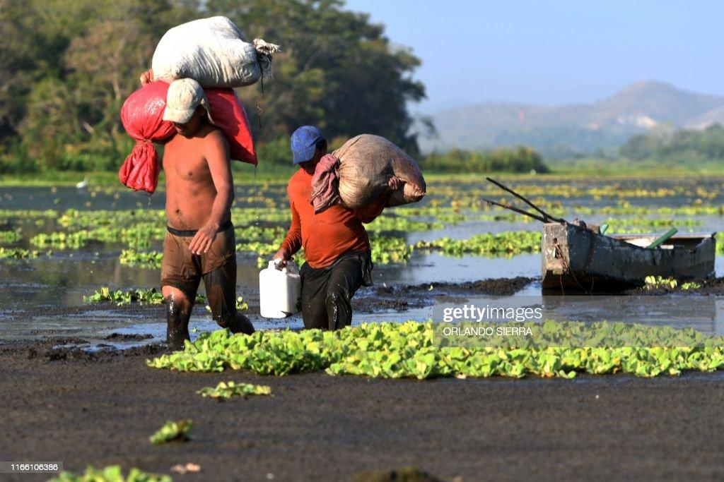HONDURAS-DROUGHT-JUCUTUMA LAKE : News Photo