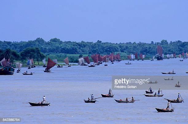Fishermen working in the Ganges Delta