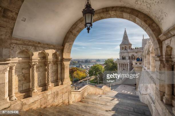 fishermen's bastion, budapest, hungary - budapest stock pictures, royalty-free photos & images
