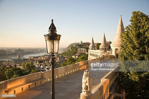fishermen's bastion - budapest stock pictures, royalty-free photos & images