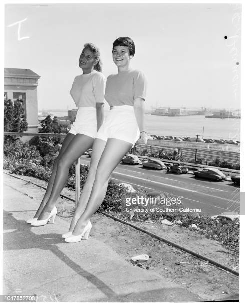 Fishermen's Fiesta Skipperette entries, 15 August 1955. Jenna Jeldum ;Deana Trutanich -- 17 years;Marie Tomich -- 17 years.;Supplementary material...