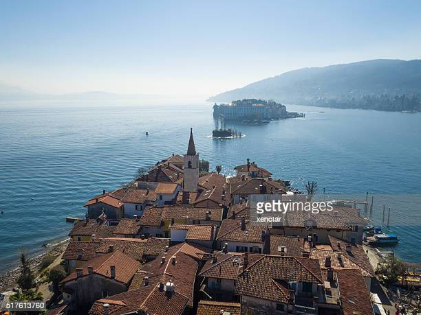 Insel Pescatori auf See Lago Maggiore