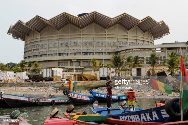 fishermen's port of boulbinet (guinea conakry) - guinea stock pictures, royalty-free photos & images