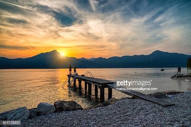 Fishers on lake Garda.