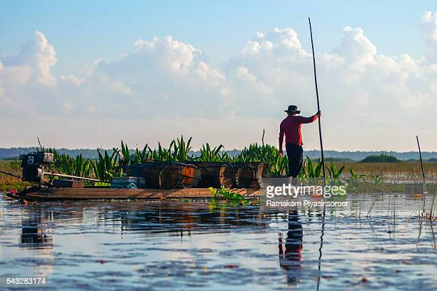 Fishery in Thale Noi, Thale Noi WaterBird Park in Phatthalung Province