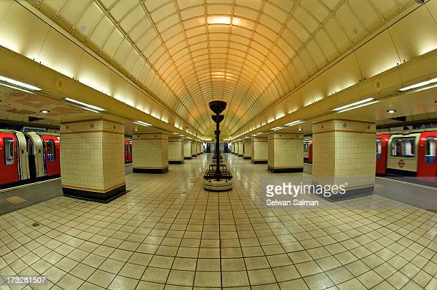 Fisheye shot of Gants Hill Station.