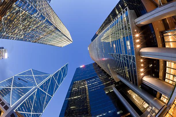 Fisheye View of Hong Kong Skyscrapers