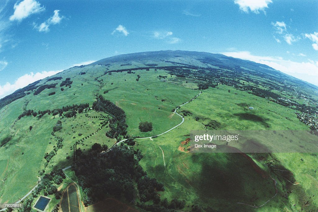 Fisheye view of Maui, Hawaii, USA : Stock Photo