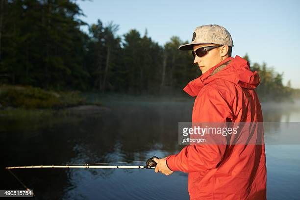 Fishin' is his mission