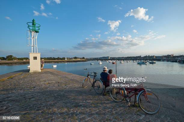 Fishing and boat-harbor of Barfleur