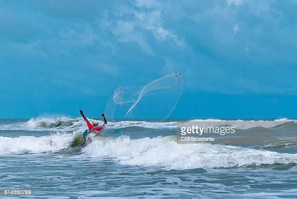 fishing at sea. - crmacedonio imagens e fotografias de stock