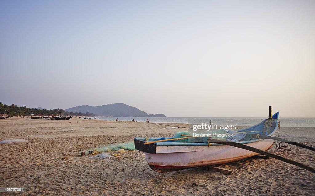 Fishing Boat Agonda Beach Goa : Stock Photo