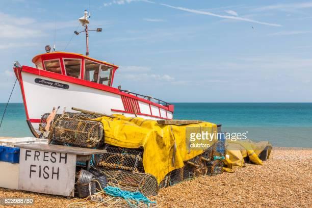 Fishing boat at Deal, Kent, UK