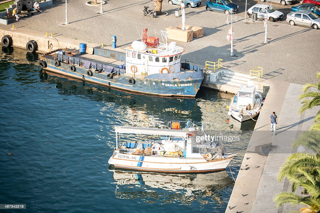 Fishing boat at Greece, Kavala : Stock Photo