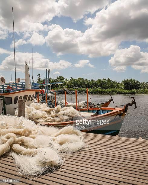 fishing boat, barreirinhas, brazil - barreirinhas stock pictures, royalty-free photos & images