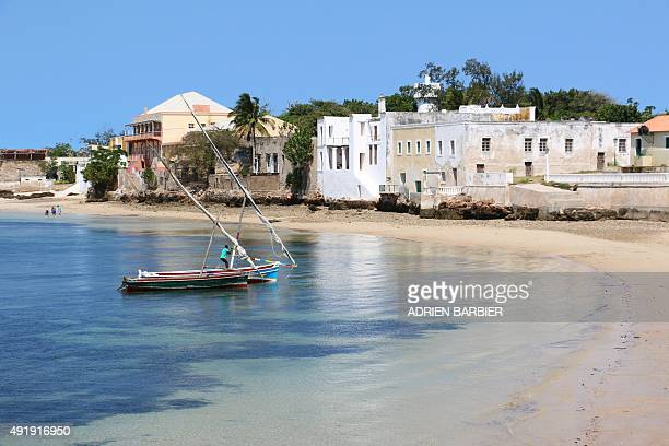 A fishing boat floats off the shores of Ilha de Mozambique on June 12 2015 A hundred years ago Island of Mozambique was once a crown jewel of the...