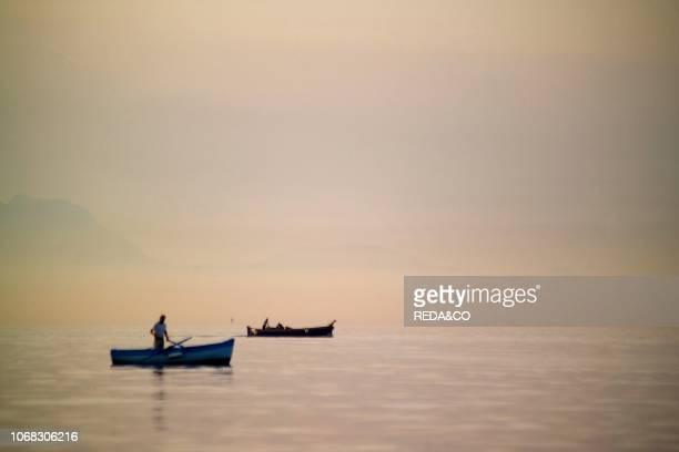 Fishing boat Gulf of Pozzuoli Campi Flegrei Campania Italy