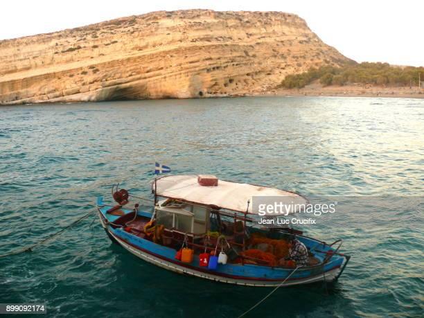 Fishing Boat in Matala (Crete)