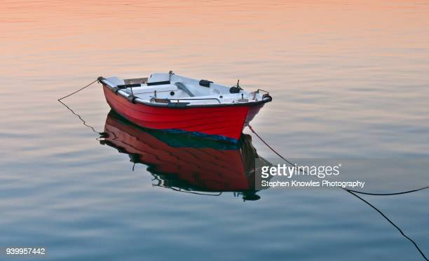 fishing boat in tavira - small boat stock pictures, royalty-free photos & images