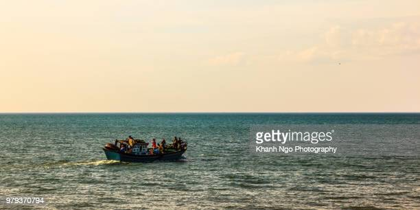 fishing boat in the central of vietnam - mid section stock photos and pictures