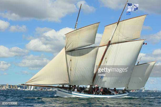 Fishing boat La Granvillaise taking part in the 7th edition of the Brest International Maritime Festival a festival hosting one of the largest...