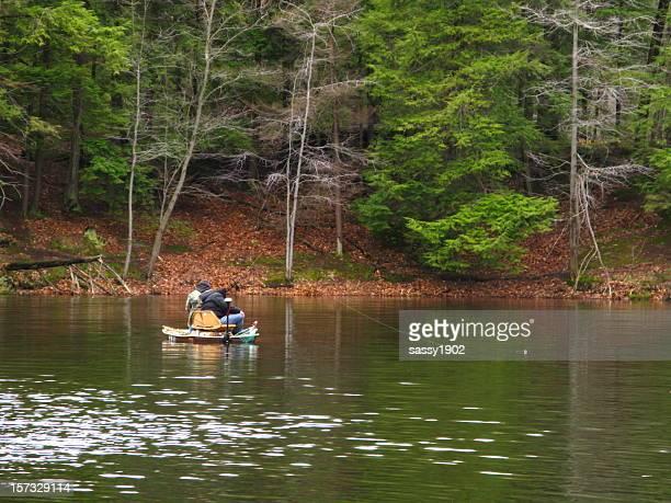 Fishing Boat Lake Fishermen