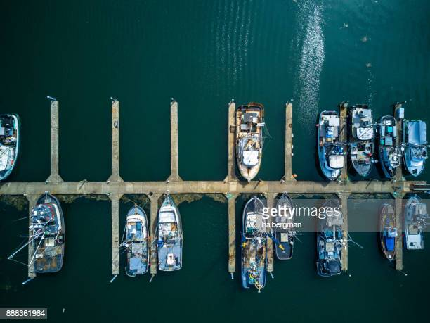 Fishing Boat Marina from Directly Above