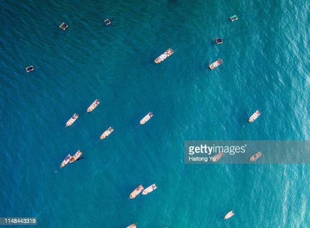 fishing boat on eastern china sea. - fuzhou stock pictures, royalty-free photos & images