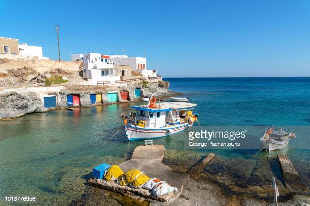 Fishing boat on Greek island