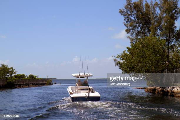 A fishing boat on the Largo Sound Canal at Florida Bay
