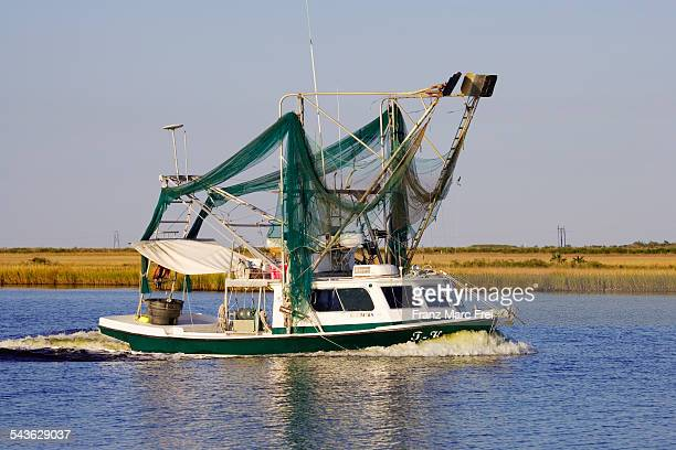 Fishing boat on the Mississippi, Louisiana