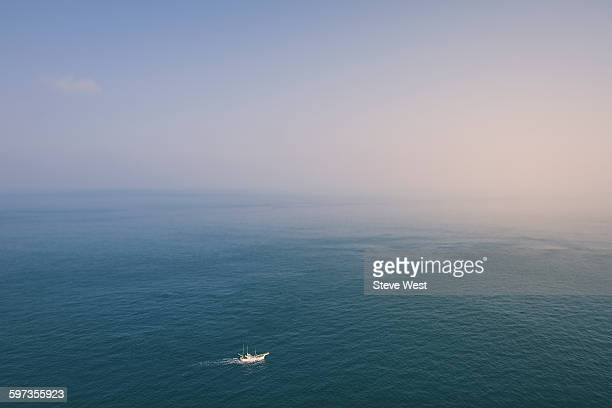A fishing boat on the ocean