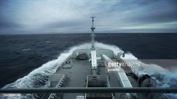 Angeln Boot Trawler Segeln bei rauer See