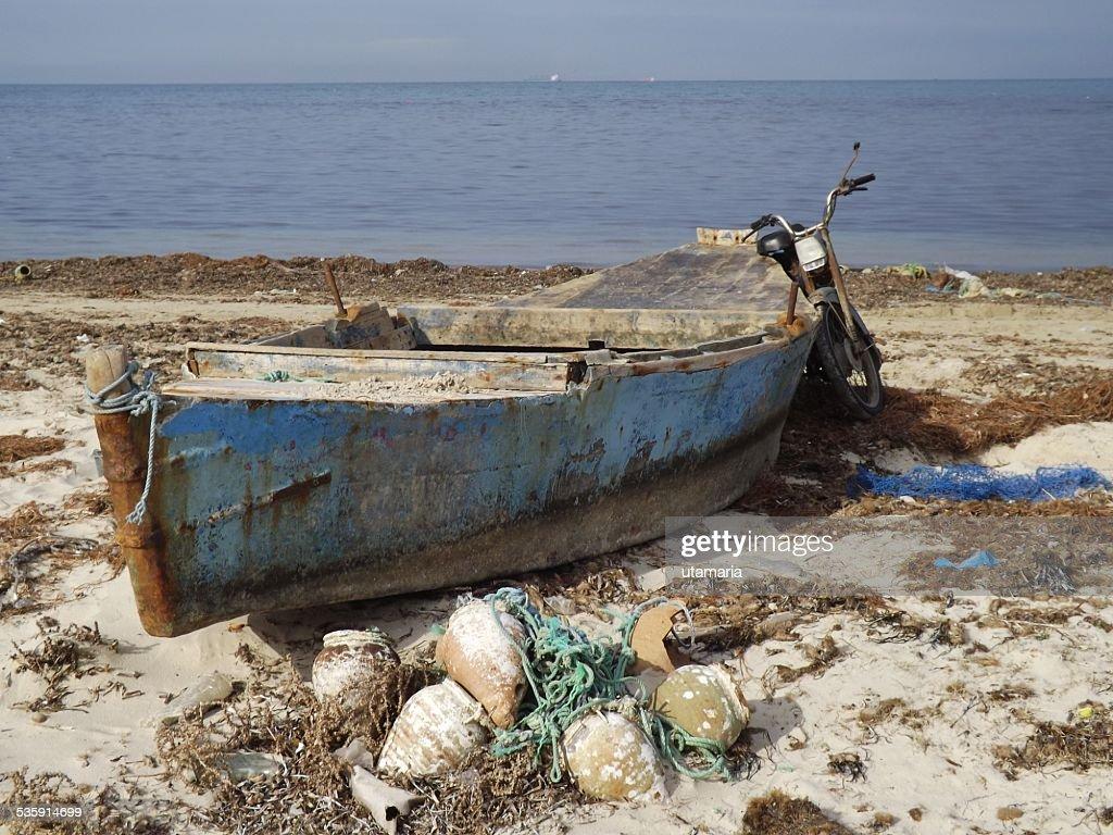 Barco de Pesca, Tunísia : Foto de stock