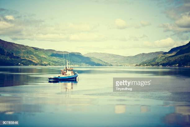 fishing boat, western isles - fishing boat stock pictures, royalty-free photos & images