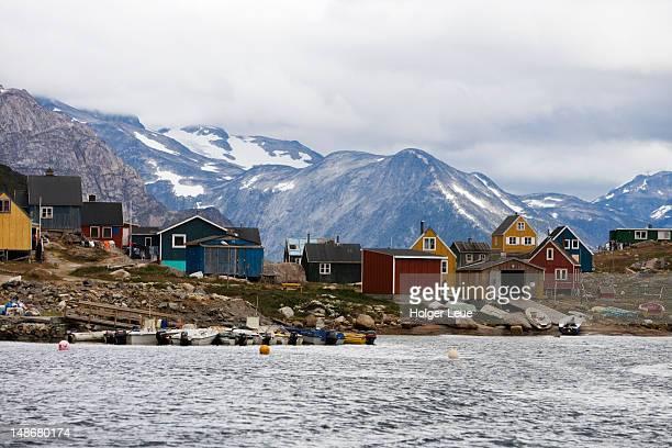 Fishing boats and houses on Prince Christian Sound.