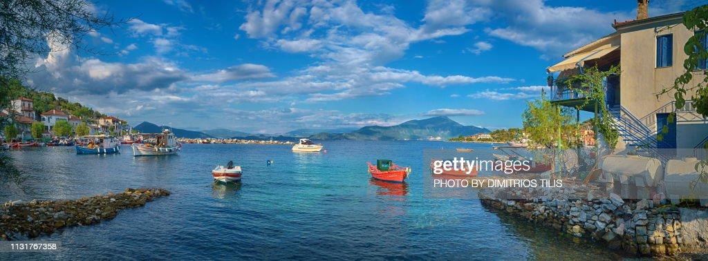 Fishing boats at Agia Kyriaki coastal Pelion 5 : Stock Photo