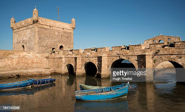 fishing boats at essaouira - hugh threlfall stock pictures, royalty-free photos & images