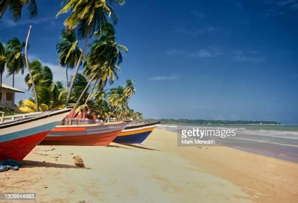 fishing boats at mayaro - トリニダードトバゴ共和国 ストックフォトと画像